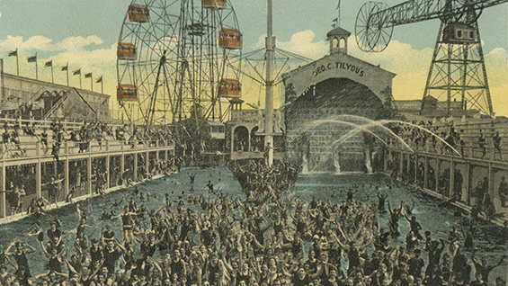 Steeplechase Amusement Park, Coney Island, N.Y. c1900. Courtesy of the Joseph Covino New York City Postcard Collection, The Irwin S. Chanin School of Architecture Archive.