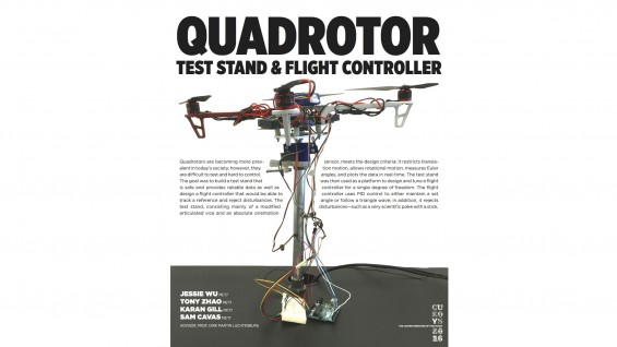 [STUDENT POSTER] QUADROTOR TEST STAND & FLIGHT CONTROLLER