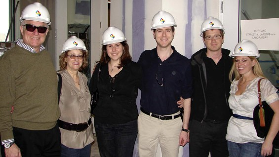 From left: Stanley Lapidus with his spouse Ruth, daughter-in-law Michelle, sons David and Joel, and daughter-in-law Tiffany