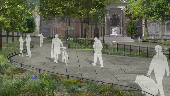 An alternate view of the plans for Peter Cooper Square