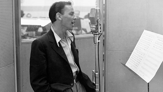 Recording at the Columbia studios. Photo courtesy of Michael Ochs Archives/ Getty Images