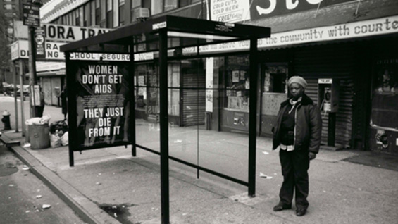 Gran Fury, Women Don't Get AIDS They Just Die From It, 1991. Presented by Public Art Fund 1/1/1991 – 4/30/1991, photo: Tim Karr, Courtesy Public Art Fund, NY