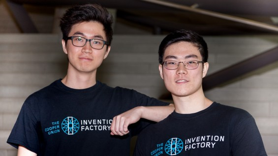 Dongho Kim and John Yoon (both ME'19) took first place at this year's Invention Factory