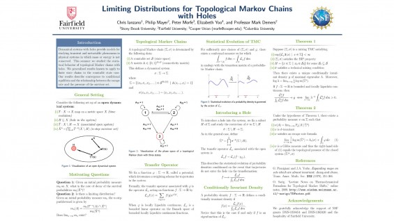[STUDENT POSTER] LIMITING DISTRIBUTIONS FOR TOPOLOGICAL MARKOV CHAINS WITH HOLES