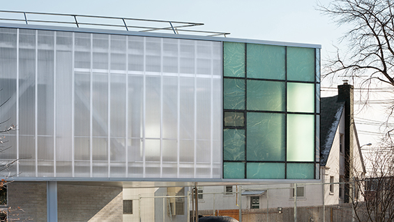 Smith-Miller + Hawkinson Architects, Zerega EMS Station, Bronx, NY. Photo: Michael Moran.