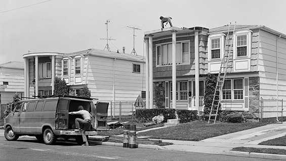 'Men Fixing Houses Near the Staten Island Mall' (detail). Photo by Christine Osinski. [See more at the bottom of the article.]