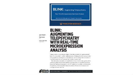 [STUDENT POSTER] BLINK: AUGMENTING TELEPSYCHIATRY WITH REAL-TIME MICROEXPRESSION ANALYSIS
