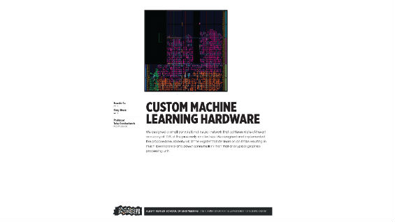 [STUDENT POSTER] CUSTOM MACHINE LEARNING HARDWARE