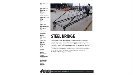 [STUDENT POSTER] STEEL BRIDGE