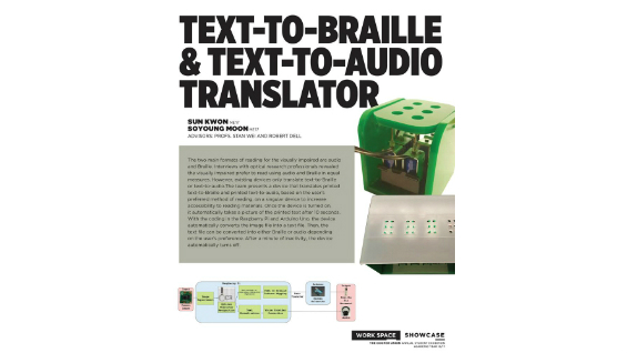 [STUDENT POSTER] TEXT-TO-BRAILLE & TEXT-TO-AUDIO TRANSLATOR
