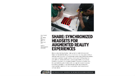 [STUDENT POSTER] S.H.A.R.E.: SYNCHRONIZED HEADSETS FOR AUGMENTED REALITY EXPERIENCES