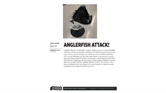[STUDENT POSTER] ANGLERFISH ATTACK!