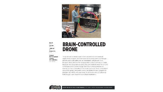 [STUDENT POSTER] BRAIN-CONTROLLED DRONE