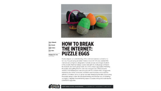 [STUDENT POSTER] HOW TO BREAK THE INTERNET: PUZZLE EGGS