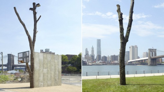 Oscar Tuazon (A'99), 'The People,' two installation views.