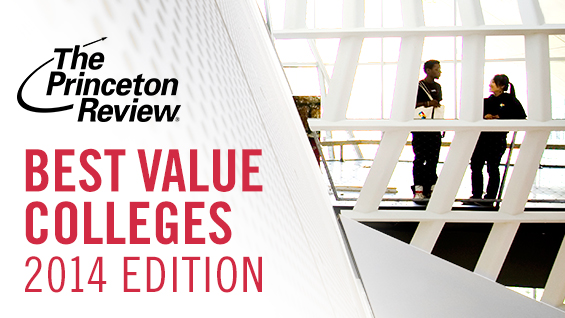 "The Princeton Review ""Best Value"" Colleges graphic"