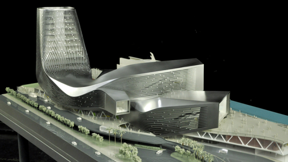 Kaohsiung Port Terminal model. Courtesy of RUR