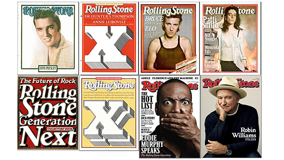 Covers of Rolling Stone magazine