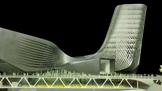 View of the Kaohsiung Port Terminal model. Credit: Courtesy RUR Architecture
