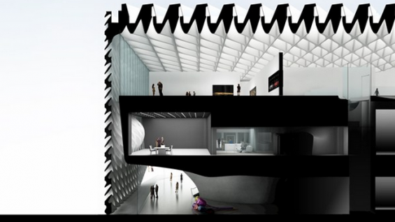 The Broad, section. Credit: Courtesy Diller Scofidio + Renfro