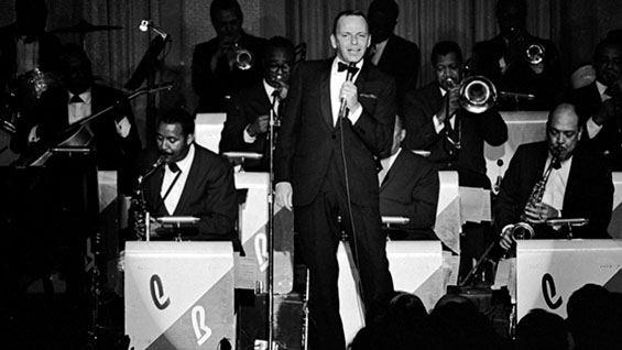 In concert with the Count Basie Orchestra in the mid-1960s. Photo courtesy of John Dominis/ Getty Images