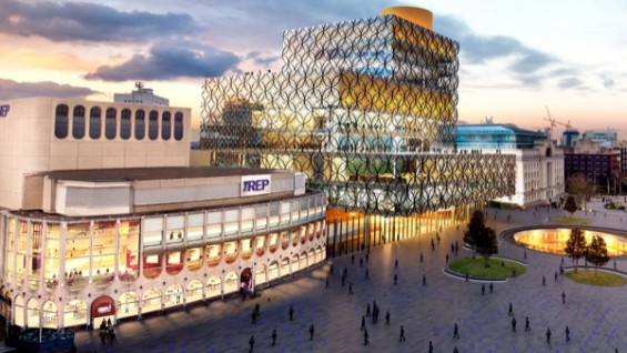 Library of Birmingham integrated with the REP theatre, Birmingham UK