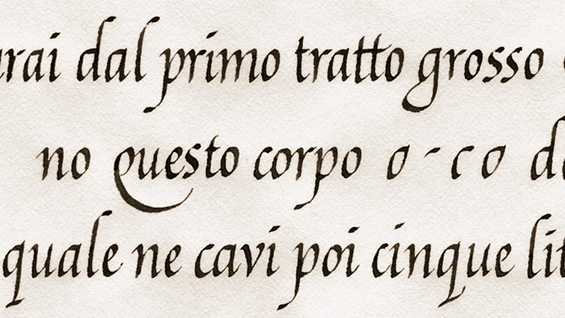 Calligraphy class in New York The Italic Hand
