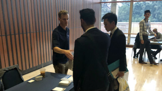 CE students at the career fair as part of the conference