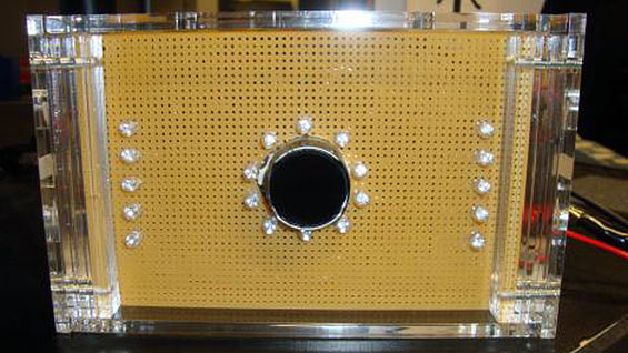 The 'Eye See What You See' camera and LEDs