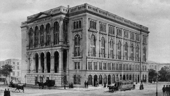 Old Drawing of Cooper union building