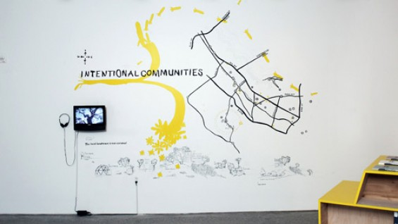 Installation view of Amy Franceschini's Intentional Communities, 2008