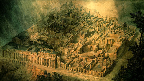 Joseph Gandy, 'Soane's Bank of England as a Ruin' (1830)