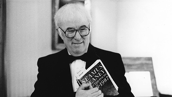 Seamus Heaney at the Morgan Library, November 13, 1996
