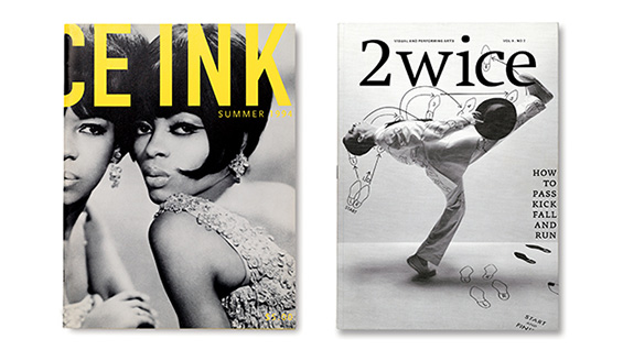 'Dance Ink' 1994 & '2wice' 2007. Design by Abbott Miller