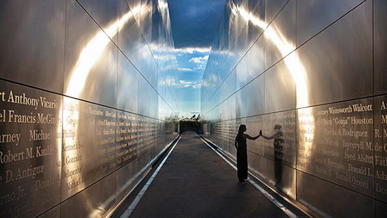 'Empty Sky,' New Jersey 9/11 memorial inscription design. Creative Director: Alexander Isley