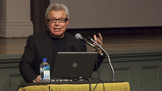 Daniel Libeskind at the Great Hall, April 2013. photo by Joao Enxuto