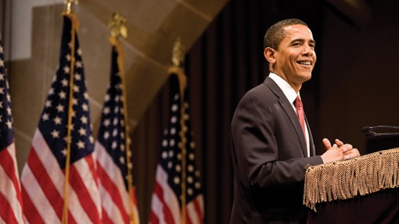 Barack Obama at the Great Hall
