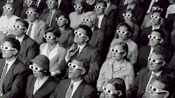 old fashioned 3D glasses