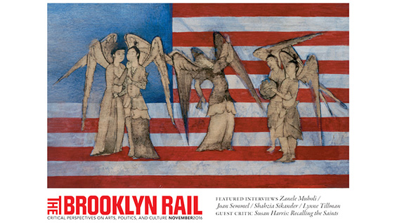 November Cover of the 'Brooklyn Rail' featuring work by Shahzia Sikander