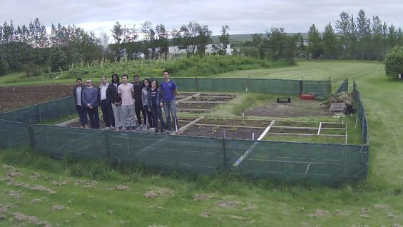Agricultural University of Iceland, heated garden