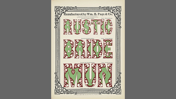 A page from 'Specimens of Chromatic Wood Type Borders &C'