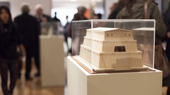 """Massimo Scolari's """"The Collector's Room: The Ark in the Domestic Project, Triennale of Milan"""" Balsa wood model, 1986"""