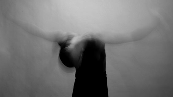 'Gesture 216 [Individual dancing to the word 'hope.']' photo by James Sprang;