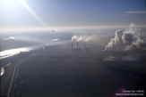Morning haze at coal-fired power plant