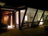 Night View of Entrance From Patio