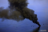 Burn-off of oil collected from the BP Deepwater Horizon spill.
