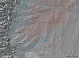 Hydro-fracking wells north of Denver, Colorado, showing vertical and horizontal drill patterns.