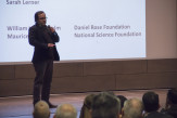 Prof. Oliver Medvedik explained the breadth of bioengineering projects at Cooper