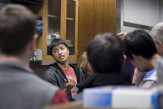 Peter Yang CE'16 talked about his work with classmates under the supervision of Prof. Constantine Yapijakis