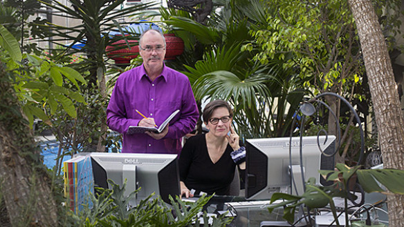 David Turnbull and Jane Harrison at their studio in New Jersey. Photo courtesy Michael Mancuso/NJ Times